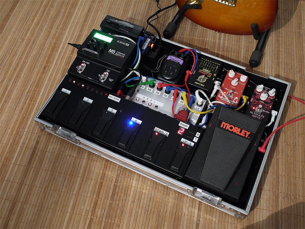 MIDI looper pedalboard